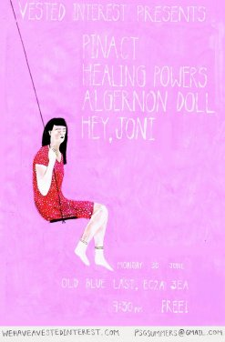 Algernon Doll / Pinact / Healing Powers / Hey Joni poster - The Old Blue Last